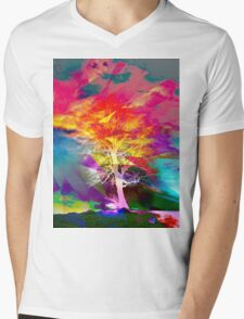 One Tree Thrice - DOS Mens V-Neck T-Shirt