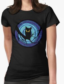 time for child stories: the EVIL OWL Womens Fitted T-Shirt