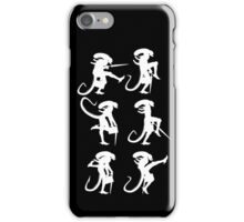 Ministry of Alien Silly Walks (White Version) iPhone Case/Skin