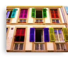 Colourful Windows Canvas Print