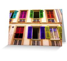 Colourful Windows Greeting Card