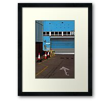 blue arrow Framed Print