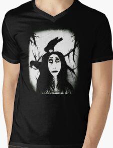 Her eyes so innocent... on hallowed ground. Mens V-Neck T-Shirt