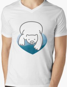 Polar Heart Mens V-Neck T-Shirt