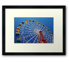 Ferris Wheel Colour Framed Print