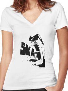 Ska tribute Women's Fitted V-Neck T-Shirt
