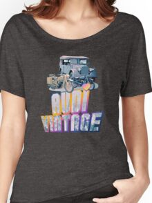 Vintage Audi car and Motorcycles Women's Relaxed Fit T-Shirt