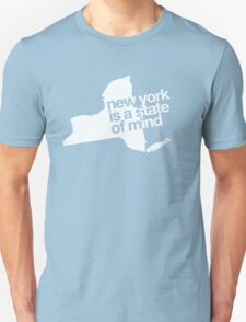 New York is a state of mind - Big - White Unisex T-Shirt