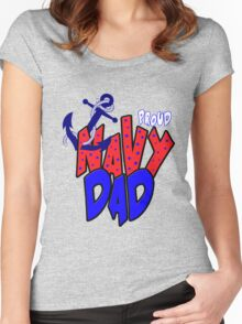 Proud Navy Dad Women's Fitted Scoop T-Shirt