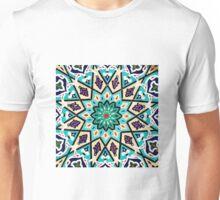 Square turquoise Mosaic Unisex T-Shirt