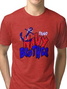 Proud Navy Brother Tri-blend T-Shirt