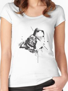 Birdy Bird Tv Screen Face Women's Fitted Scoop T-Shirt