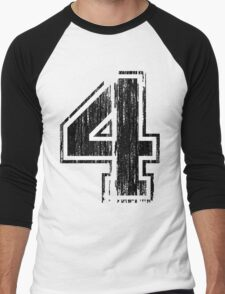 Bold Distressed Sports Number 4 T-Shirt