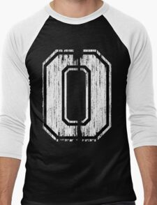 White Distressed Sports Number 0 T-Shirt