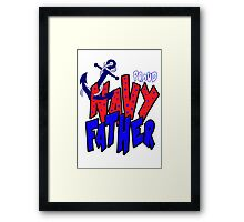 Proud Navy Father Framed Print