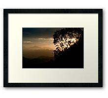 Zomba Sunset Framed Print