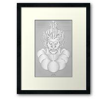 Akuma Waveform Evil Intent Framed Print