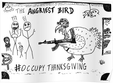 Occupy Thanksgiving editorial cartoon by bubbleicious