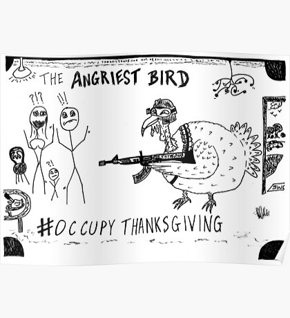 Occupy Thanksgiving editorial cartoon Poster
