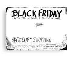 Occupy Shopping cartoon Canvas Print