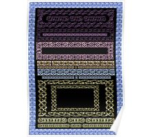 Crystal Celtic Borders Plate 2 ~ Decoupage Paper Poster