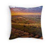 Sunrise On Mam Tor Derbyshire Throw Pillow