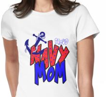 Proud navy Mom Womens Fitted T-Shirt