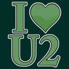 I Heart U 2 (Green) by Stephen Mitchell