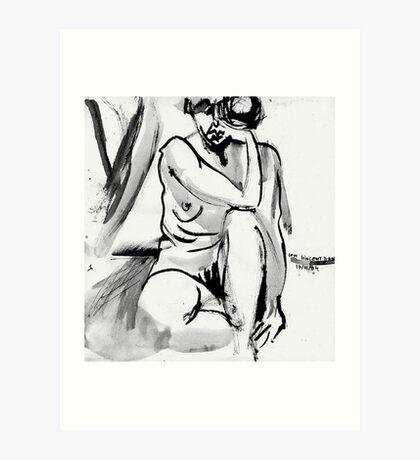 Sad Mouth Nude Art Print