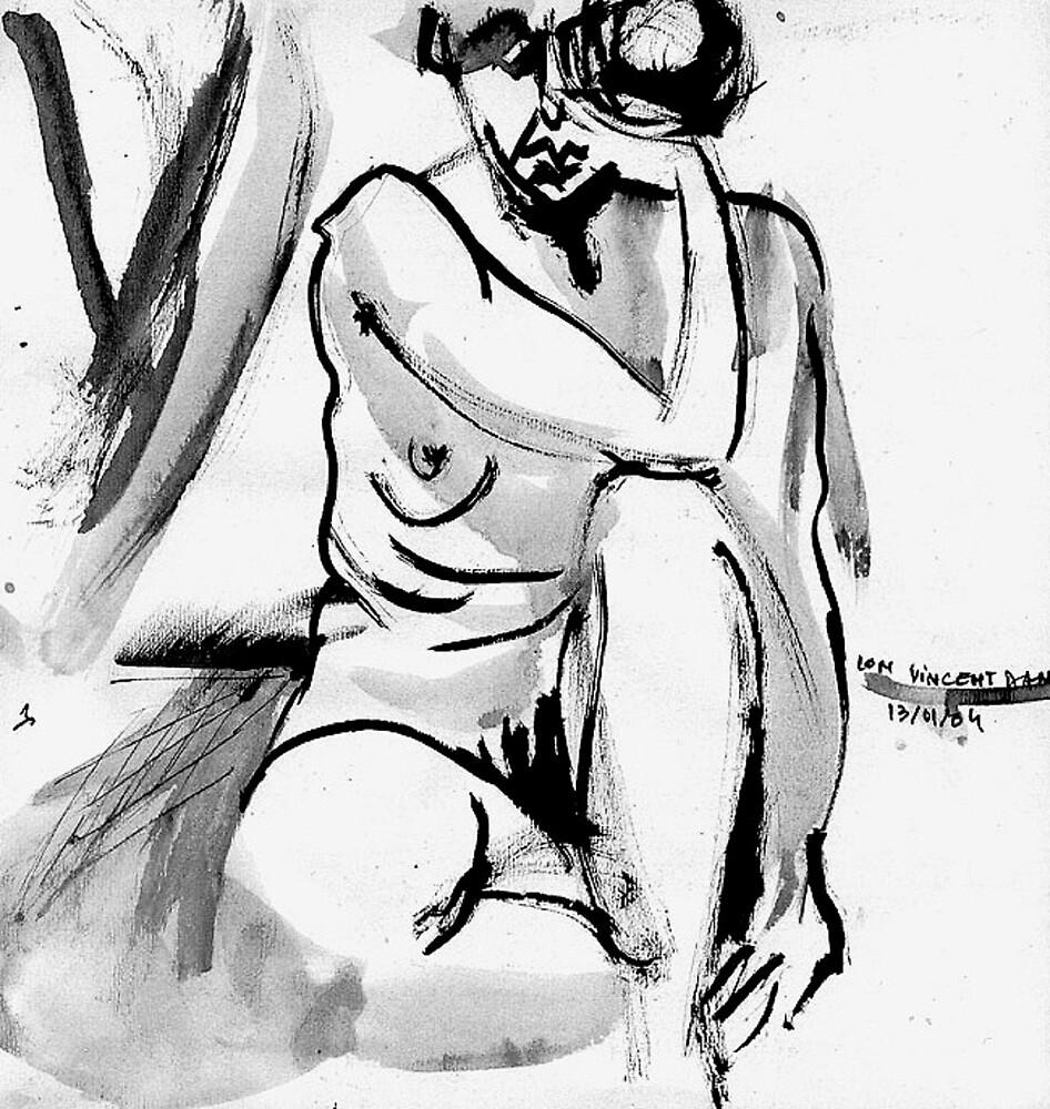 Sad Mouth Nude by ivDAnu