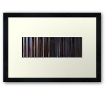 Moviebarcode: Star Wars: Episode IV - A New Hope (1977) Framed Print