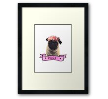 we love pugs Framed Print