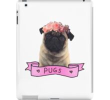 we love pugs iPad Case/Skin