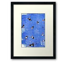 Williams swimming penguins Framed Print