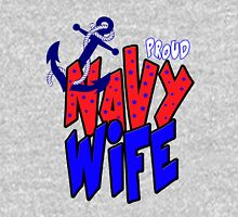Proud Navy Wife Womens Fitted T-Shirt
