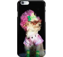 Funny dog in glasses iPhone Case/Skin