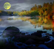 Boundry Waters Moonlit Night by canonuser495