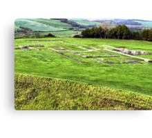 All that remains.....Old Sarum Cathedral, a Norman Cathedral built at Old Sarum, near Salisbury UK Canvas Print