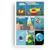 """Rick the chick  """"THE MAGIC SHELL (Quota periscopio) parte 33"""" Canvas Print"""