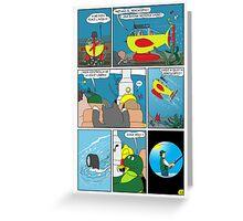 "Rick the chick  ""THE MAGIC SHELL (Quota periscopio) parte 33"" Greeting Card"