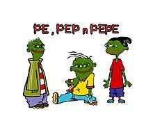 Pe, Pep n Pepe Photographic Print
