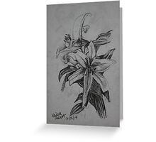 Lilies Sketch Greeting Card