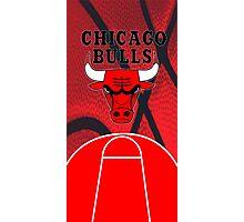 Chicago Bulls Logo Basketball NBA Photographic Print