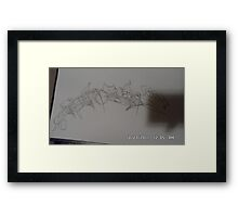 pencil sketch Framed Print