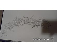 pencil sketch Photographic Print