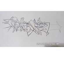 REone sketch outline Photographic Print