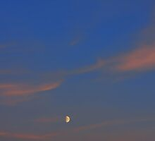 Background of colourful sky with moon. by fotorobs
