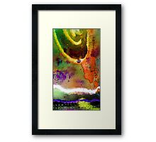Follow The White Zagged Road Framed Print