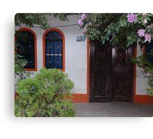 Typical house of the tropical zone - Casa típica para la zona tropical Canvas Print
