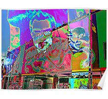 Psychedelic Nixon Poster